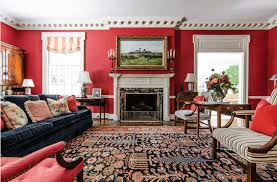 Have a modest sitting point that sets aside a wide walkaway for walking around. 40 Red Living Room Ideas Photos Home Stratosphere