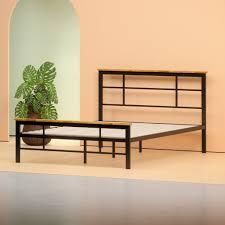 wood and metal platform bed. Delighful Wood Metal And Wood Urban Platform Bed Frame Inside And O
