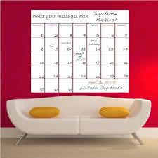 wall decal calendar dry erase quick view large dry erase wall calendar decal