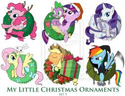 My Little Pony Christmas Ornaments Set 1 DOWNLOAD by  SouthParkTaoist.deviantart.com