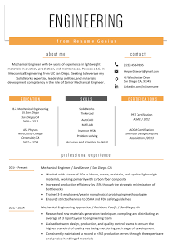 Free Professional Resume Examples And Samples For Mechanical
