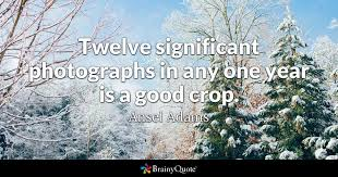 Ansel Adams Quotes 83 Wonderful Twelve Significant Photographs In Any One Year Is A Good Crop