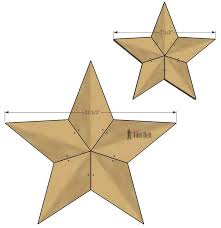 Wood Star Pattern