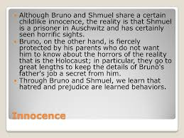 the boy in the striped pajamas ppt video online  although bruno and shmuel share a certain childlike innocence the reality is that shmuel is