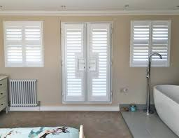 lovely french door shutters french door bathroom shutters fitted by to enlarge image add to