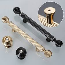 gold black door handles luxury drawer pull kitchen cabinet handles door drawer straight handle