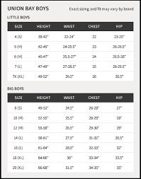 Unionbay Size Chart 33 Unmistakable Unionbay Size Chart Womens