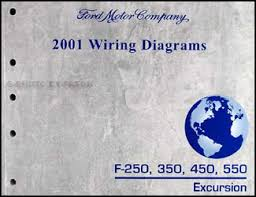 2001 ford f 250 350 450 550 excursion wiring diagram manual original