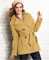 jou jou juniors coat wool blend belted trench juniors cyber monday specials