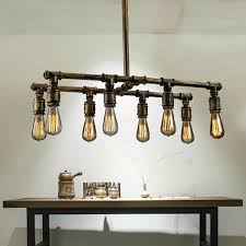 industrial pipe lighting. Modren Pipe Pendant Lamps Led Industrial Pipes Retro Chandelier Creative Loft American  Country Pub Bar Lighting Bedroom Living Room Lights Brushed Nickel  And Pipe U