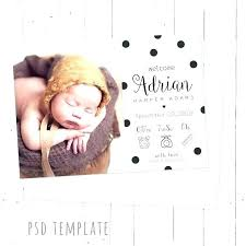 Baby Girl Announcement Template Piazzola Co