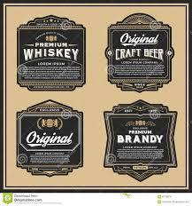 Classic Sticker Design Classic Vintage Frame Design For Labels Stock Vector