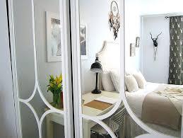 mirrored closet door makeover diy doors cover