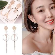 <b>2019 New Earrings</b>, Korean Style Women's Long Earrings | Shopee ...