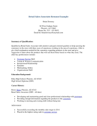 Retail Associate Resume Example Retail Sales Associate Resume Objective Inside Examples Example 24 5