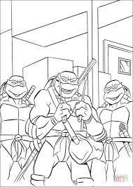 Small Picture Teenage Mutant Ninja Turtles coloring page Free Printable