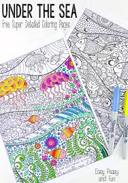 Small Picture Under The Sea Coloring Pages for Adults Easy peasy Free