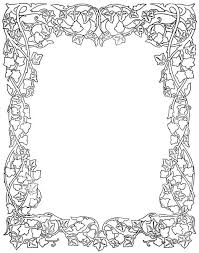 fresh ideas coloring page border excellent colorful page borders for kids book unknown