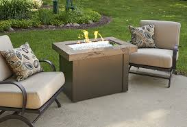 Amazoncom Outdoor Greatroom Uptown Gas Fire Pit With 42x12 Inch Outdoor Great Room