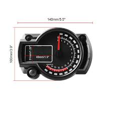 DC 12V Universal Motorcycle Digital <b>Colorful</b> LCD Speedometer ...