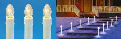 outdoor candle lighting. contemporary lighting set of 10 prelit c7 candle christmas pathway markers  clear lights  walmartcom on outdoor lighting