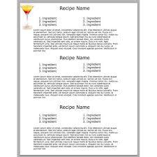 Cookbook Format Template 28 Images Of Cookbook Format Template Leseriail Com