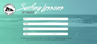 Personalised Gift Vouchers Templates Gift Voucher Currumbin Alley Surf School