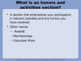 The Honors and Activities Section; 49.