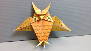 Origami Halloween Owl - Print Your Own Paper! - YouTube