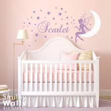 stars wall decal moon elegant baby girl wall decals