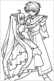 Manga Danse En Robe Et Costume Coloriages Imprimer Gratuits