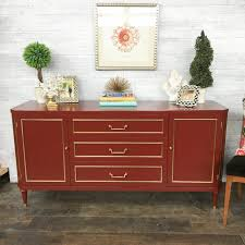 Vintage Refined Red Painted Buffet