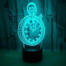 Rei Night Light Night Light Clock Sensor Light Lampara Pared Power Bank