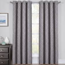 blackout curtains pair. Exellent Curtains GrayHiltonBlackoutCurtainsJacquardThermalInsulatedPair Inside Blackout Curtains Pair R