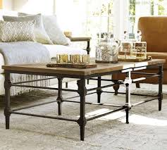 reclaimed wood top industrial cast iron