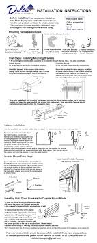 How To Install Faux Wood Blinds At The Home DepotWindow Images Blinds Installation Instructions