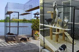 View in gallery Cat enclosures from Home of Habitat Haven