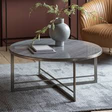 necta round marble top coffee table in
