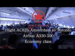 Trip Report Air Canada Flight Ac825 Airbus A330 300 Amsterdam To Toronto Econamy Class