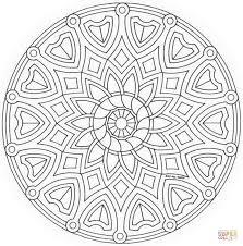 Disegno Di Mandala Celtico Con Fiore Da Colorare Disegni Da