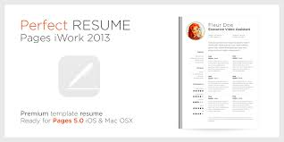 Resume Iwork Pages Templates Curriculum Vitae Template Cv Free