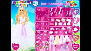 barbie beautiful bride bridal game you princess dress up