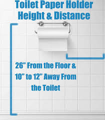 toilet paper holder height distance