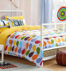bedroom cheerful living with colorful beddings plaid bedding sets
