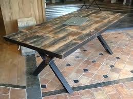 Table industrielle bois et fer - 203 cm de longueur | BCA Matériaux ...