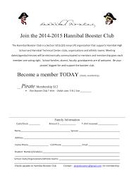 Registration Form Hannibal High School Athletic Booster Club