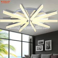 Unique Contemporary Led Ceiling Lights Modern Indoor Lighting Iron Acrylic  Led Ceiling Lighting For Shops