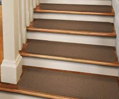 carpet stair treads. set of 15 tape-down carpet stair treads toffee brown