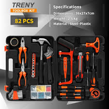 treny jys 80pcs multi use home hand carry tool kit household diy tool set