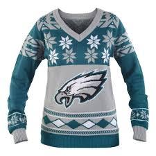 Philadelphia Eagles Sweater With Lights Nfl Womens V Neck Sweater Philadelphia Eagles Small